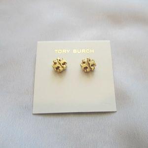 Tory Burch NEW Logo Stud Earring Gold SMALL